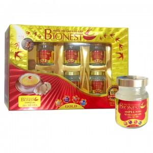 Hộp Yến sào Bionest Plus cao cấp15% - 6 lọ- Hộp quà tặng