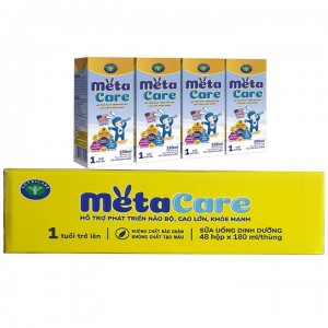 Sữa nước Meta vàng hộp 180ml