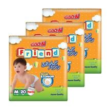 Bộ 3 tã quần Goo.n Friend size M 20 miếng(cho bé từ 6-11kg)