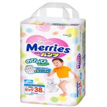 Tã quần Merries XL38
